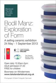 Blackwell The Arts & Crafts House, Cumbria - Bodil Manz: Exploration of Form. May 24-Sep 1. - Galleries magazine - May'13