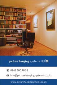 Picture Hanging Systems Ltd, Kent - Installation of all kinds of systems for hanging pictures - Galleries magazine - May'13