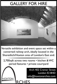 Hoxton Arches, London - Versatile 2,700 sq ft gallery and event space - Galleries Aug'14