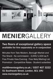 Menier Gallery, London - Dramatic Space for hire near Tate Modern - Galleries magazine - Aug'14