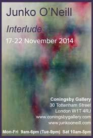 Debut Art & The Coningsby Gallery, London - Junko O'Neill: Interlude. Nov 17-22. - Galleries Nov'14