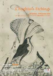 Grosvenor Gallery, London - Chughtai's Etchings: first large London show . Oct 29-Nov 8. - Galleries magazine - Nov'14