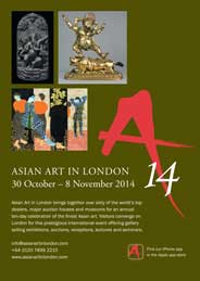 Asian Art in London 2014 - Asian Art in London. Oct 30-Nov 8. - Galleries magazine - Oct'14