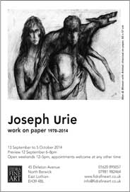 Fidra Fine Art, East Lothian - Joseph Urie. Work on Paper 1978-2014. Sep 13-Oct 5.- Galleries Sep'14