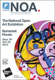 Embankment Galleries East, London - The National Open Art Exhibition - NOA 14. Sep 18-Oct 25. - Galleries magazine - Sep'14