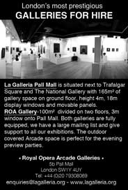 La Galleria Pall Mall, London - Two contemporary galleries for hire - Galleries Jan'15