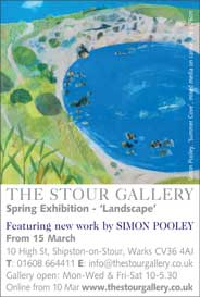 Stour Gallery, Warks - Simon Pooley: New works. From Mar 15. - Galleries Mar'15