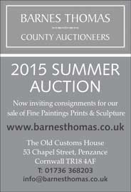 Barnes Thomas County Auctioneers, Penzance - Summer 2015 Auction. - Galleries May'15