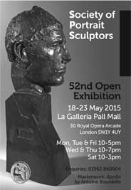 La Galleria, London - The Society of Portrait Sculptors. May 18-23. - Galleries May'15