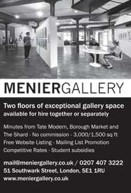 Menier Gallery, London - Dramatic Space for hire near Tate Modern - Galleries magazine - Oct'15