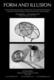 54 The Gallery, London -  Keith Holmes and Andre Bardega: Form and Illusion. Sep 28-Oct 10. - Galleries Sep'15