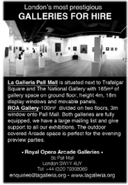 Two contemporary galleries, minutes from Trafalgar Square, hireable separately or together. Exhibition support available.