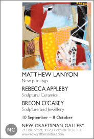 New Craftsman Gallery - Matthew Lanyon: In the Tracks of the Yellow Dog. Sep 10-Oct 8