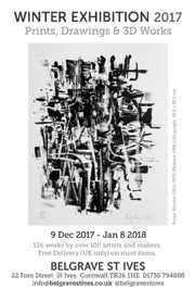 Winter Exhibition: Prints, Drawings and 3D Works. Dec 9-Jan 8