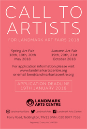Call to Artists. Until Jan 19