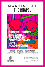 CHAPEL ARTS - Original Prints and Works on Paper. Feb 17-Mar 18
