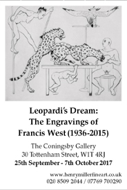 Francis West (1936-2015): Leopardi�s Dream - Engravings. Sep Until Oct 7