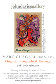 Marc Chagall: Original Lithographs and Etchings. Feb 3-24