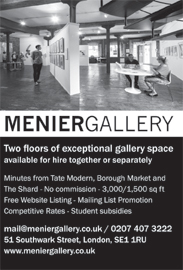 Two floors of gallery space, available for hire or separately